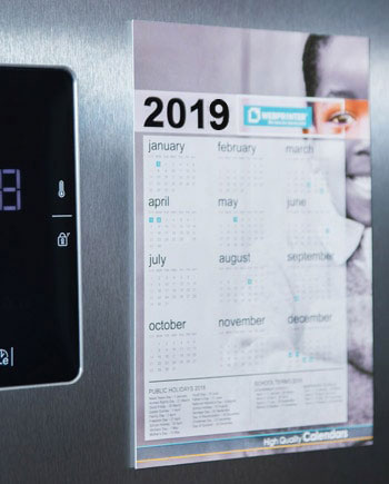 Fridge Calendars - Brand visibility 365 days a year