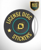 License Disc Sticker - Be Bright and Radiant